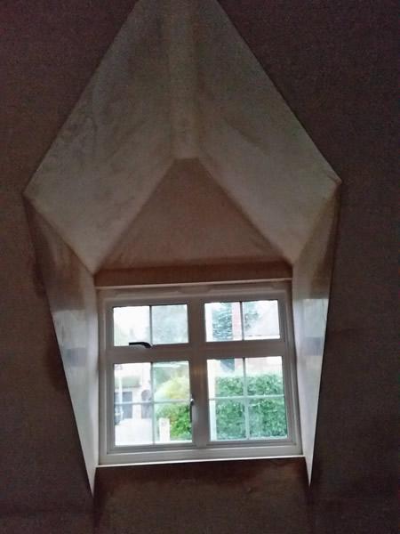 Detailed skimming in window bay in gerrards cross