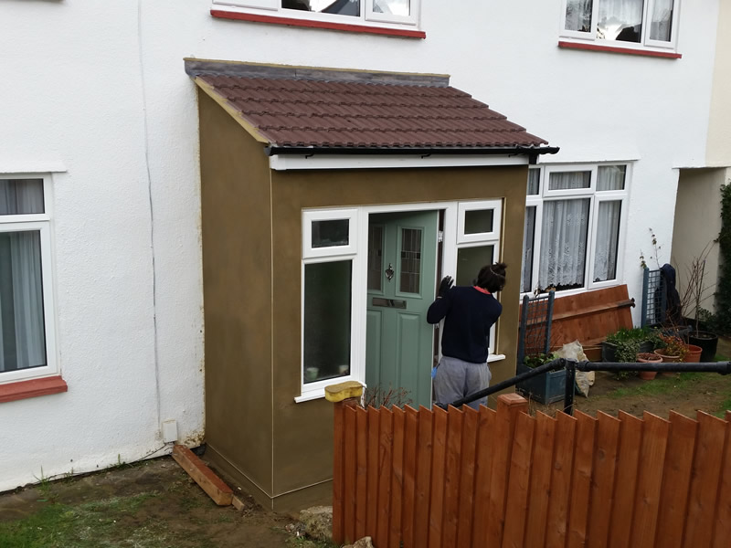 Rendered porch in south oxhey